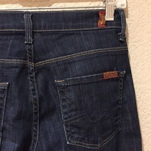 7 FAMK ginger dark wash denim jeans